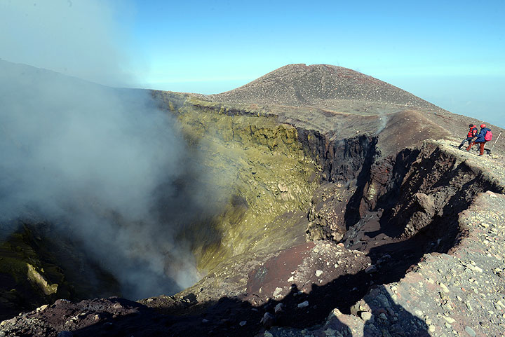 View into Etna's NEcrater today
