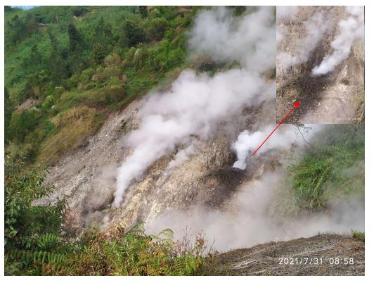 Mudflow at Siglagah Crater yesterday (image: PVMBG)