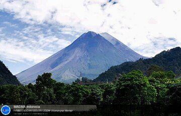Merapi volcano on 22 February (image: PVMBG)