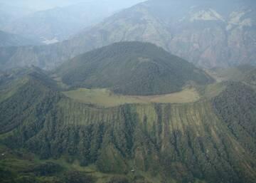 Machin volcano and its lava dome (image: @sgcol/twitter)