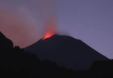 Strombolian activity from Etna volcano (image: INGV)