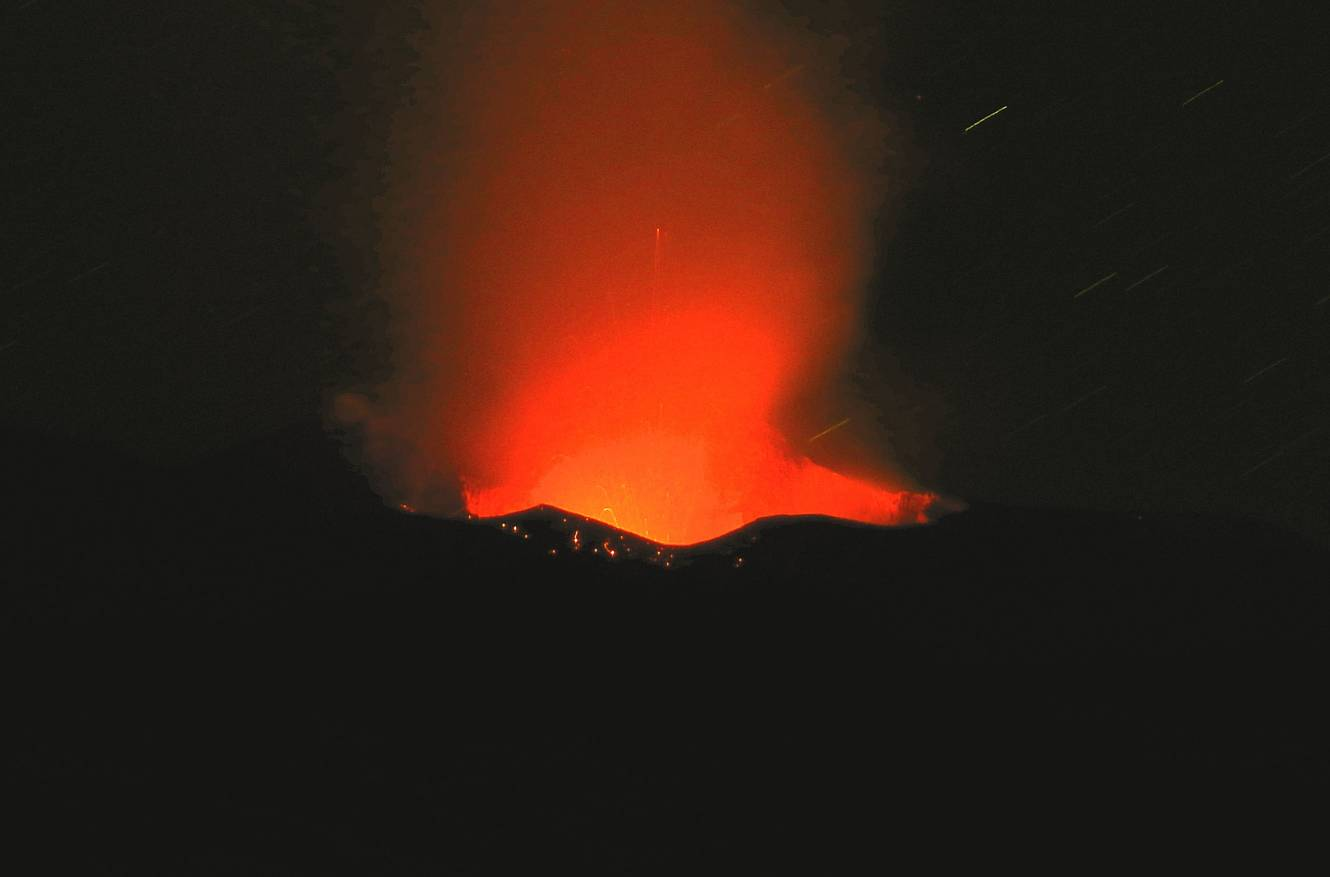 Strombolian activity from Etna volcano (image: INGV)