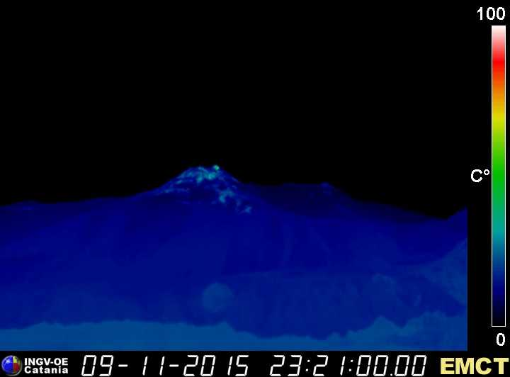 Thermal image of the New SE crater