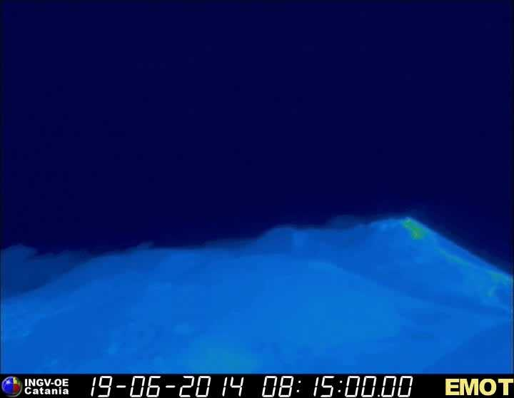 Thermal image of the New SE crater (INGV webcam)