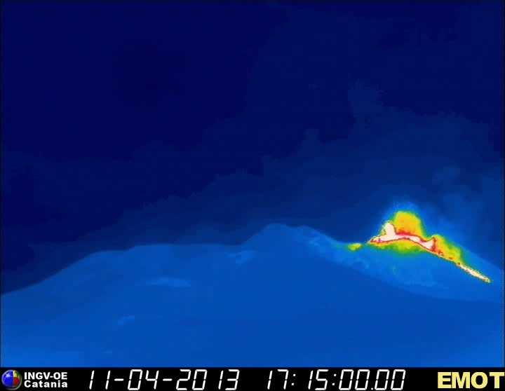 Thermal image of the New SE crater (INGV Catania)