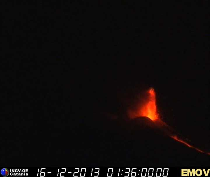 Lava fountain from the New SE crater