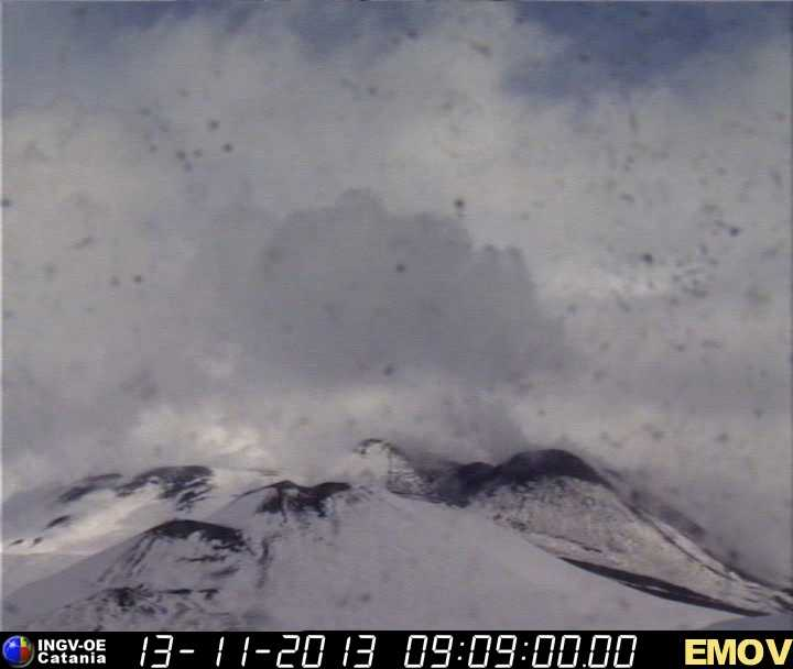 Weak explosion from Etna's New SE crater today