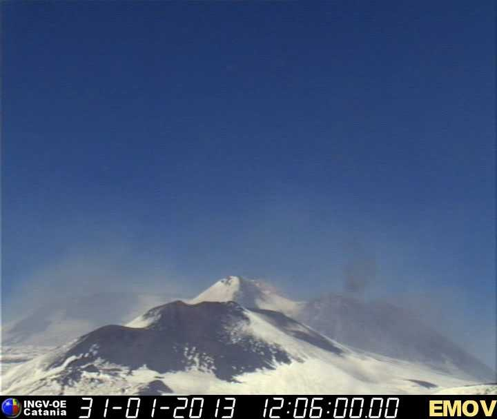 Etna's summit area today (INGV webcam)