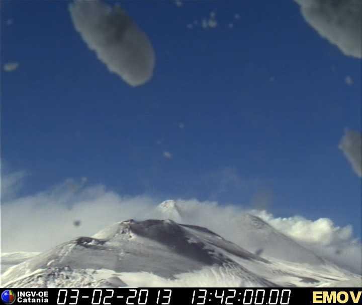 Snow-white Etna this Sunday
