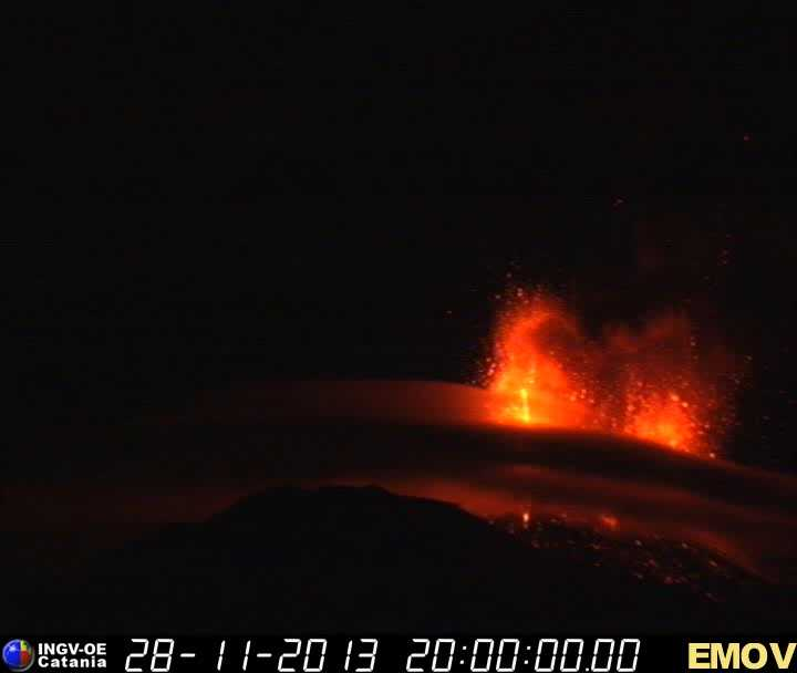 INGV webcam image from Montagnola webcam showing 2 fountains