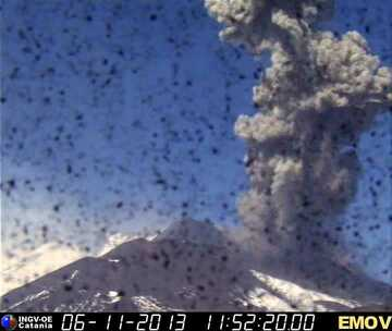 Webcam image of an explosion at the NSEC