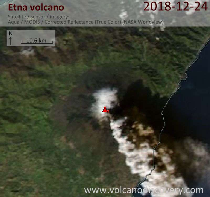 Today's Aqua satellite image of Etna volcano