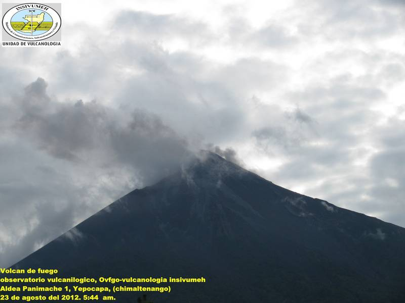 An eruption of Fuego this afternoon
