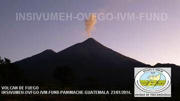 Small explosion from Fuego volcano yesterday