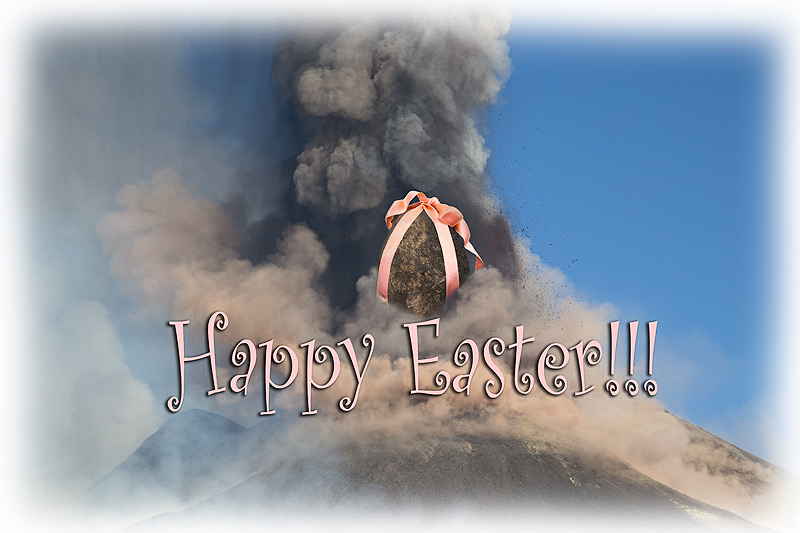 Happy Easter from Etna's NSEC (photo: Emanuela / VolcanoDiscovery Italia)