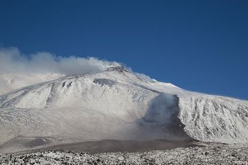 The front of the lava flow. (Photo: Emanuela / VolcanoDiscovery Italia)