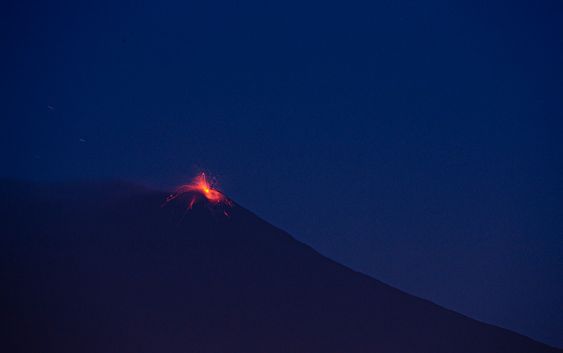 Strombolian activity at Etna's NSEC  seen from Catania