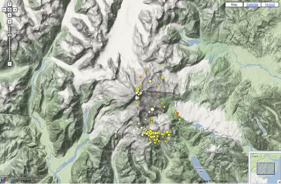 Recent quakes near Iliamna