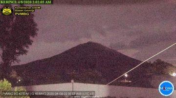 Kerinci volcano yesterday (image: PVMBG)