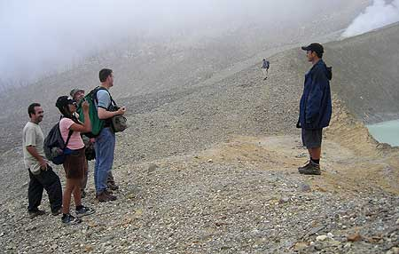 Inside the crater of Papandayan (photo: H. Arn)