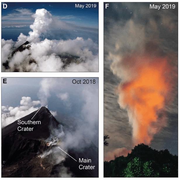 Aerial Observations of Manam, Papua New Guinea (Image: Liu et al. 2020)