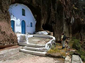 Small church built as a cave into the volcanic rock