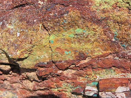 Hydrothermal minerals in the scists