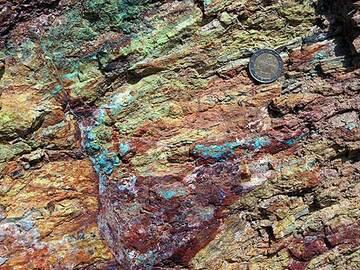 Copper mineral deposits