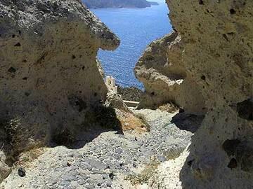 Footpath through the Minoan ash deposits