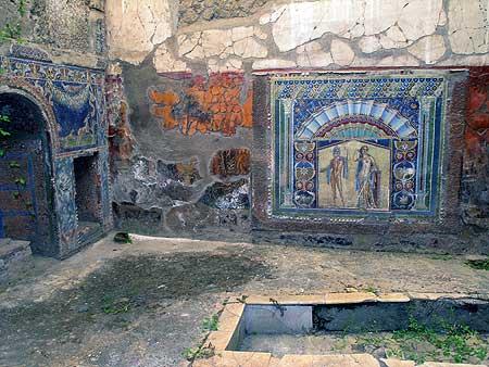 Bathroom in an Ancient Roman house (Herculaneum)
