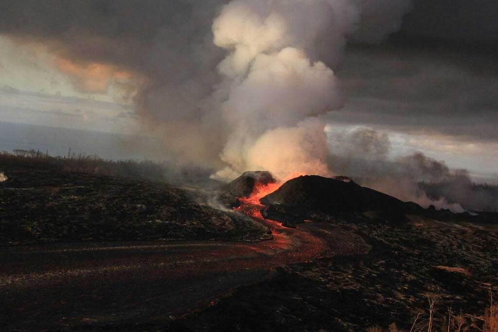 Eruption at Fissure 8