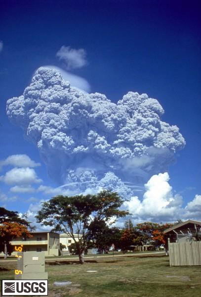 The June 12, 1991 eruption column from Mount Pinatubo taken from Clark Air Base. U.S. Geological Survey Photograph taken on June 12, 1991, by Richard P. Hoblitt.