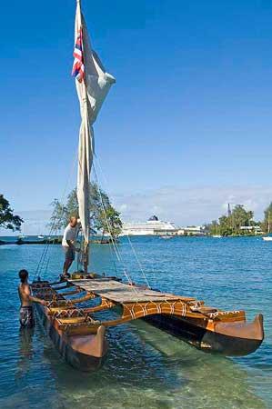 Our sailing canoo