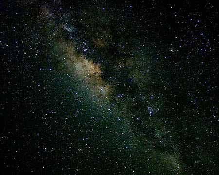 Milky way seen from Mauna Loa