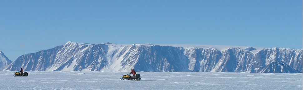 Roaming icy fields on Antarctica (ANSMET)