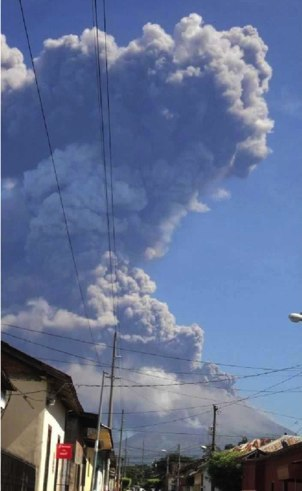 The eruption as seen early on 8 Sep