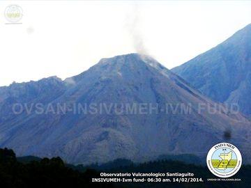 Santiaguito volcano Friday morning
