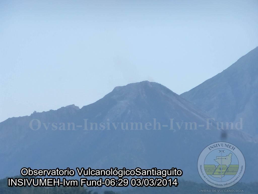Santiaguito's lava dome on 3 March