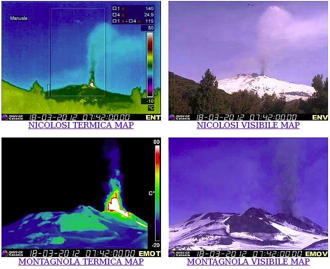 INGV webcam images at the beginning of the paroxysm