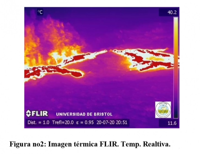 Thermal image at Pacaya volcano (image: INSIVUMEH)