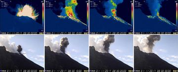 Sequence of the eruption (image: INGV)