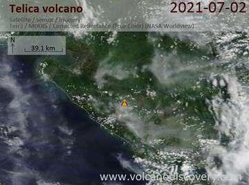 Satellite image of Telica volcano on  3 Jul 2021