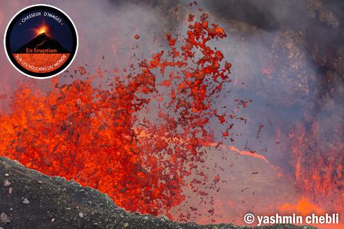 Lava fountain from Benbow's lava lake (image: Yashmin Chebli / VolcanoDiscovery)