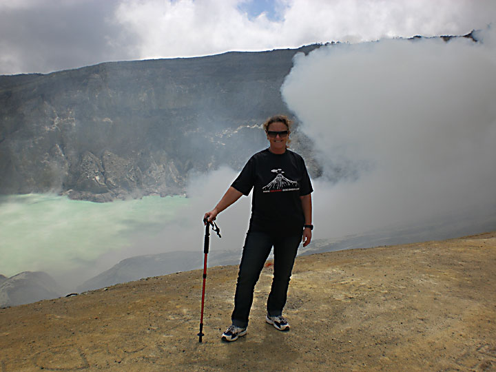 Me on the rim of Ijen volcano