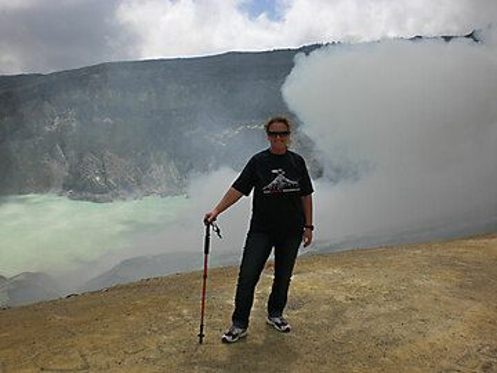 Me on the rim of Ijen volcano