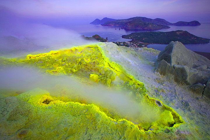 Fumarole at Vulcano's crater (Eolian Islands, Italy)