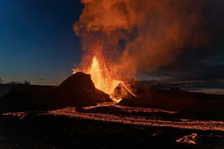 Eruption in Iceland May 2021