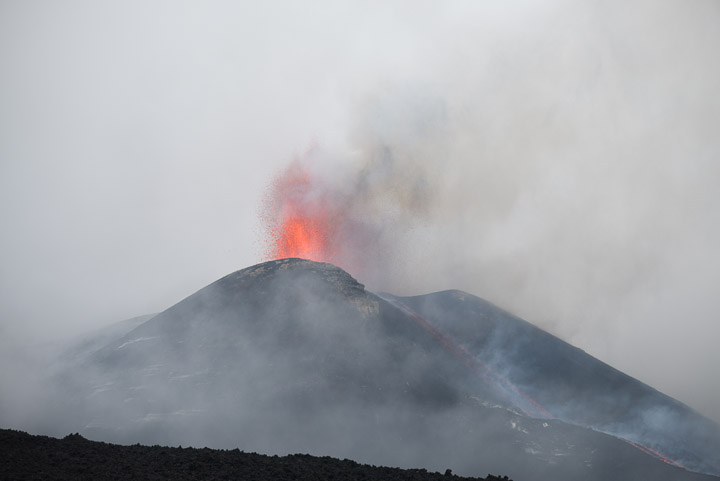 Eruption at Etna's New SE crater