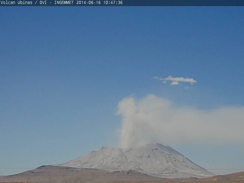 Light ash emission from Ubinas today