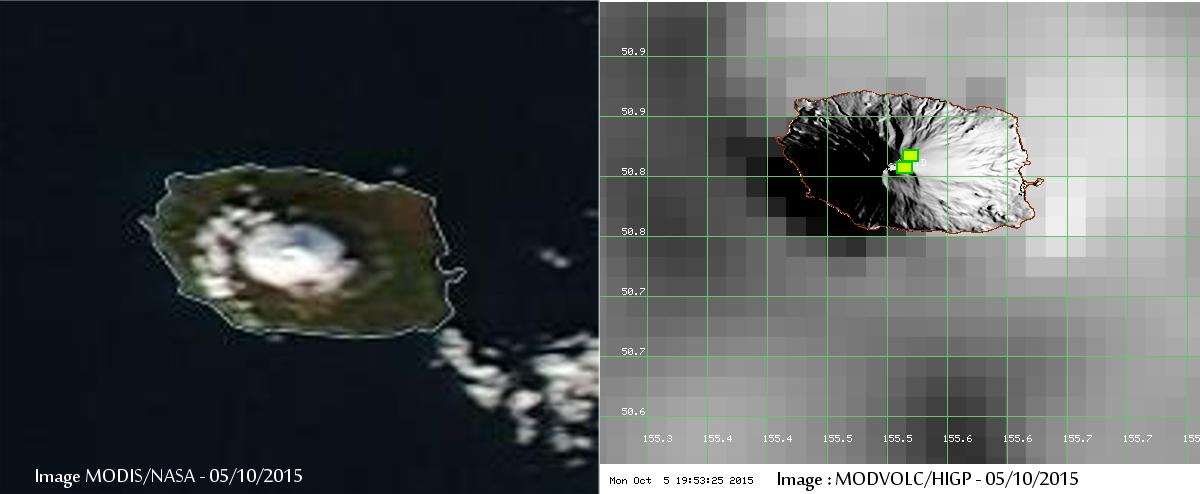 Thermal signal on Alaid volcano (MODIS/NASA et MODVOLC/HIGP, via Culture Volcan)